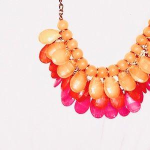 Boutique Pink/Light Orange Necklace